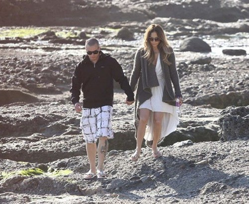 Jennifer & Casper on Valentines Day, Malibu Beach 14/02/12