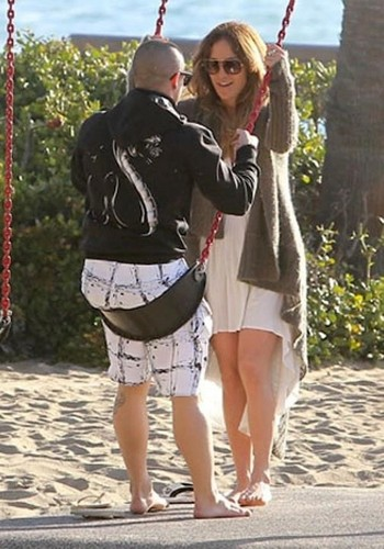 Jennifer & Casper on Valentines Day, Malibu 바닷가, 비치 14/02/12