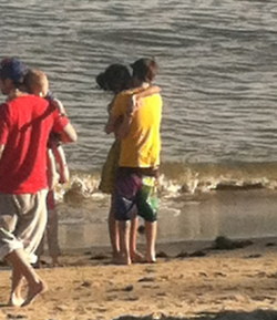 Justin & Selena at the spiaggia :)