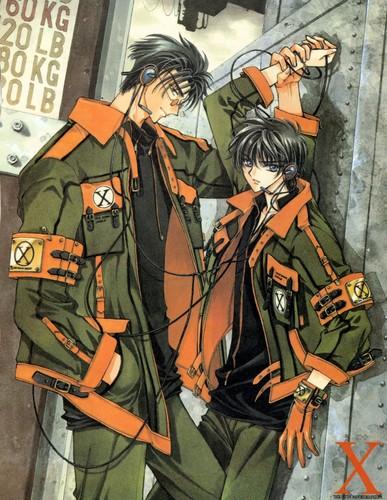 Kamui and Subaru wallpaper containing anime entitled Kamui Shirou and Fuuma Monou (X/1999)