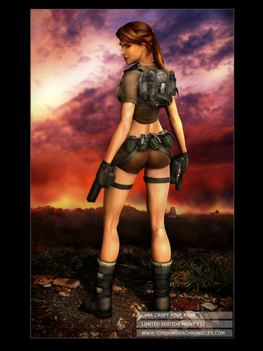 Lara Croft Rear Pose