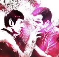 Let's run away - spirk fan art