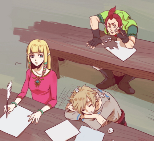 Link at school the legend of zelda fan art 29182528 fanpop