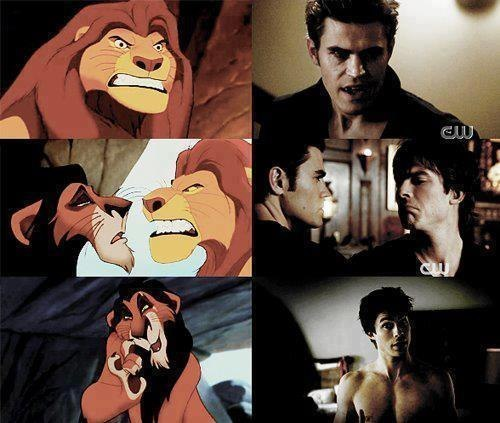Damon and Stefan Salvatore پیپر وال with عملی حکمت called Lion King
