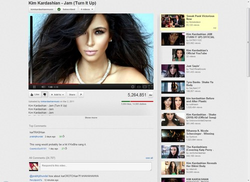 Kim Kardashian wallpaper entitled Look at the dislike bar !