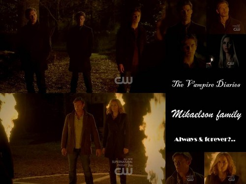 Vampire Diaries – Fernsehserie Hintergrund probably with a business suit and a feuer entitled Mikaelson family