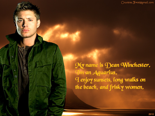 My name is Dean - supernatural Wallpaper