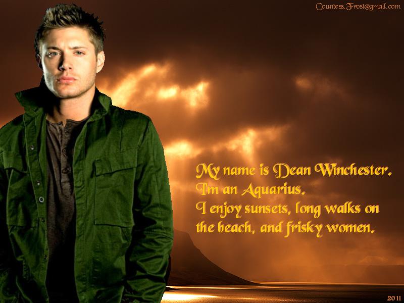 My name is Dean - Supernatural Wallpaper (29197130) - Fanpop