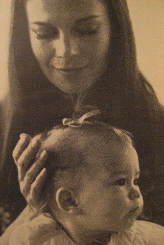 Natalie Wood wallpaper possibly with a sign titled Nat and baby Natasha :D