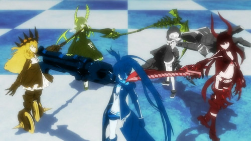 Opening - black%E2%98%85rock-shooter Screencap