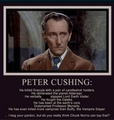 Peter Cushing - chuck-norris-jokes photo