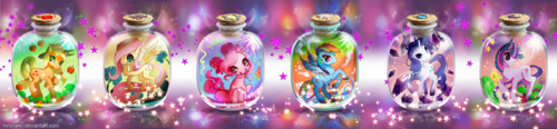 Ponies in bottles!