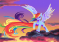 Rainbow dash painting