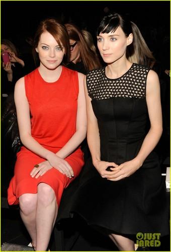 Rooney Mara & Emma Stone: Calvin Klein Fashion Show!