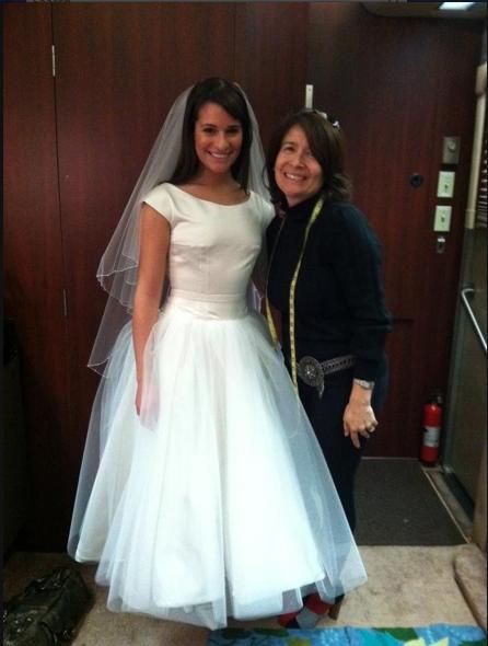 Rachel Berry Images Spoiler In Wedding Dress Wallpaper And Background Photos