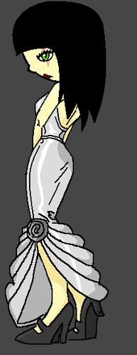 Saffire's silver dress