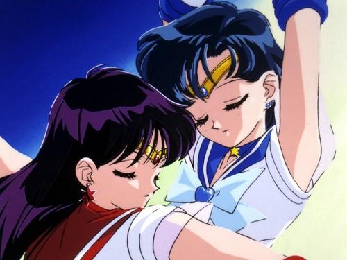 Sailor Mercury and Mars