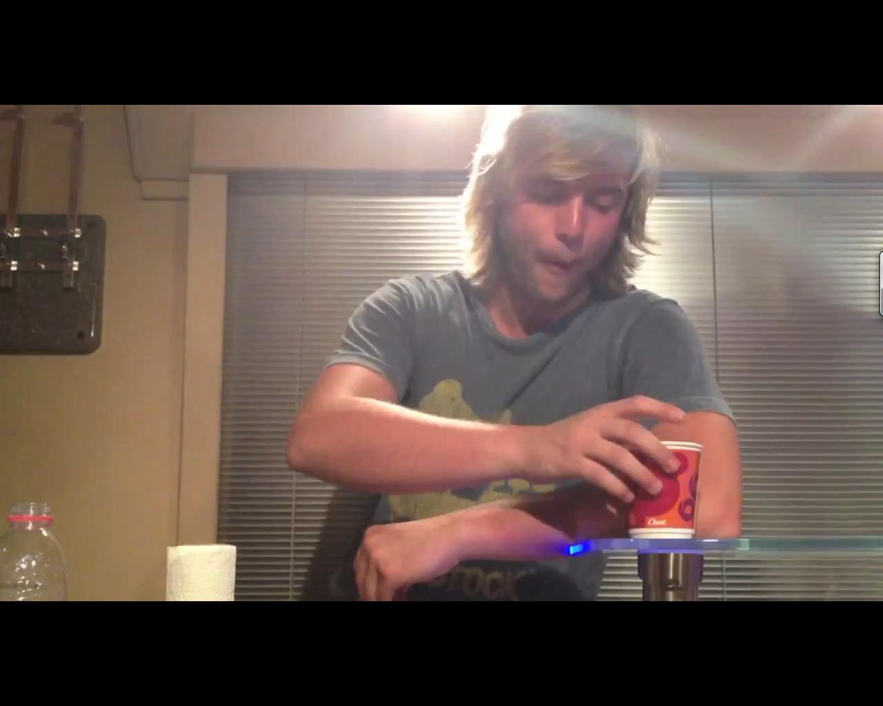 Screen Трофеи from Keith's Youtube video of him eating a sandwich.
