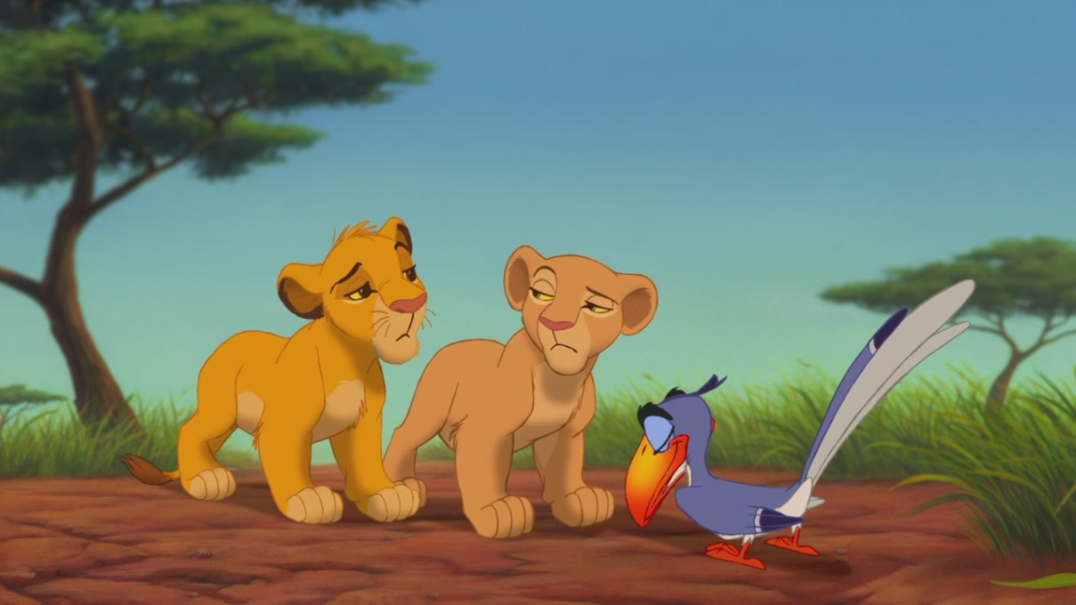 the friendship of simba and nala in the lion king