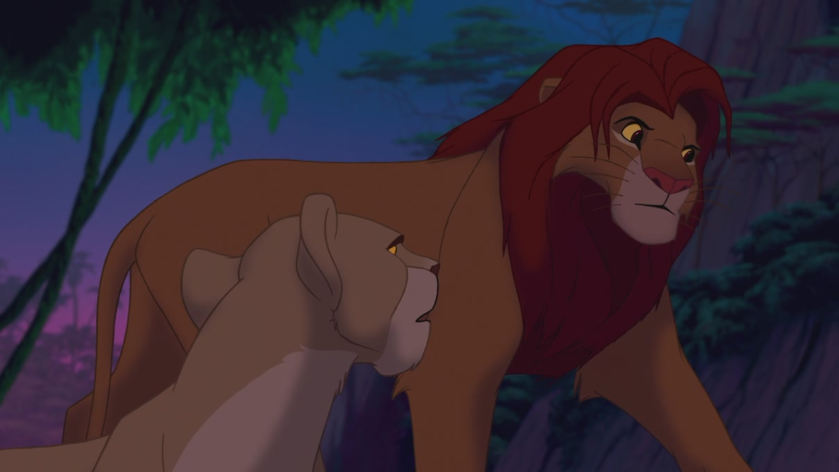 Lion King Simba And Nala Cubs Kissing