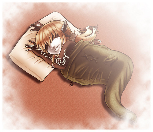 Sleeping in link's hat - the-legend-of-zelda Fan Art