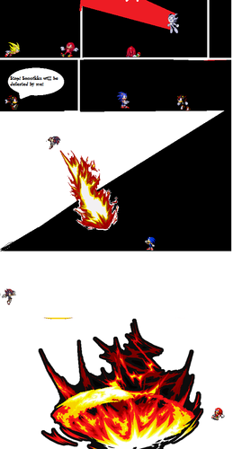 Shadow The Hedgehog پیپر وال possibly with عملی حکمت entitled Sonic vs shadow vs knux pg 2
