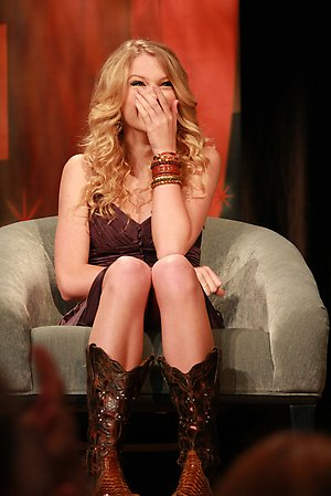 Taylor laughing!