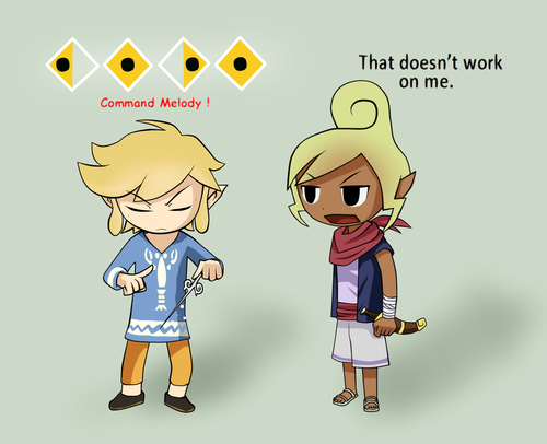 That doesn&#39;t work on me... - the-legend-of-zelda Fan Art