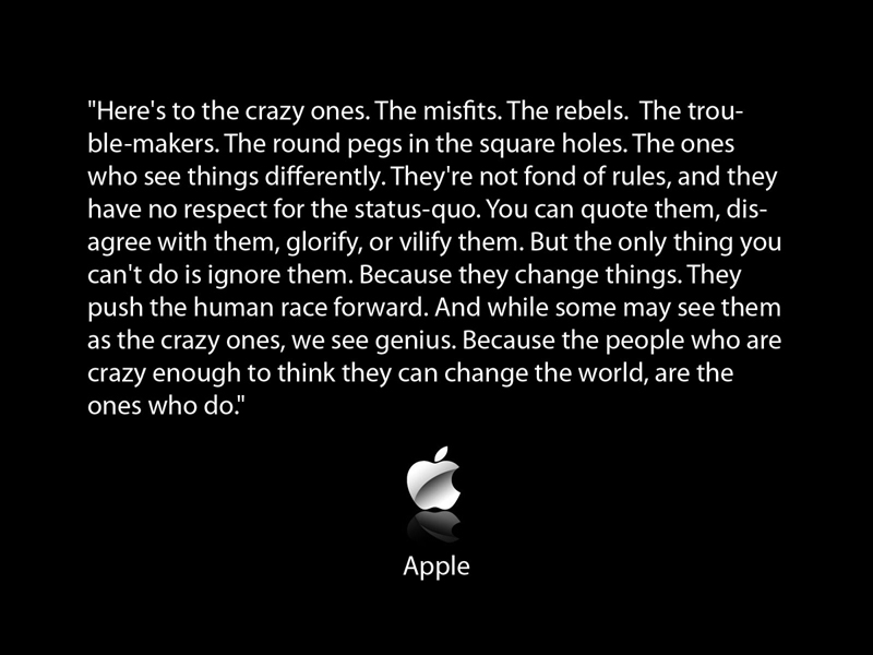 Apple Think Different Quote