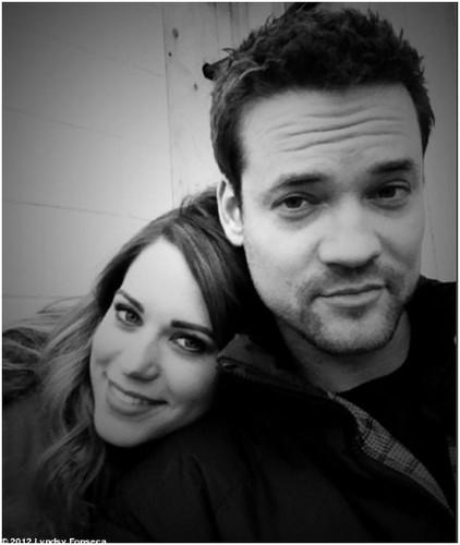 Shane + Lyndsy On Set