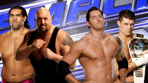 Wade Barrett wallpaper possibly with a pezzo, hunk titled Wade Barrett,Cody Rhodes,Big Show,The Great Khali