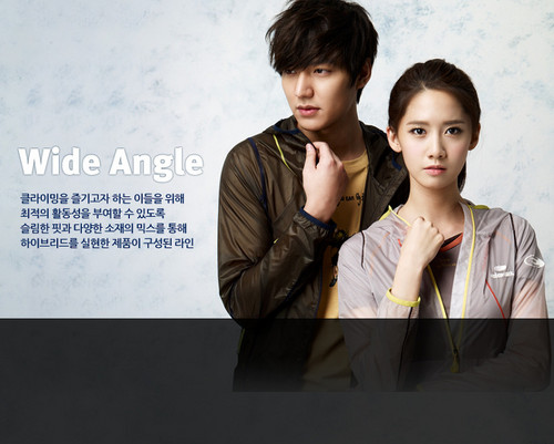 S♥NEISM wallpaper probably with a business suit and a well dressed person entitled Yoona and Lee Min Ho @ Eider Promotion