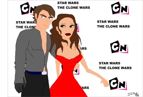 anakin & padme at तारा, स्टार wars clone wars priemer