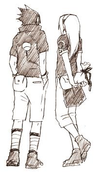 drawings of SasuSaku~~~(not mine)