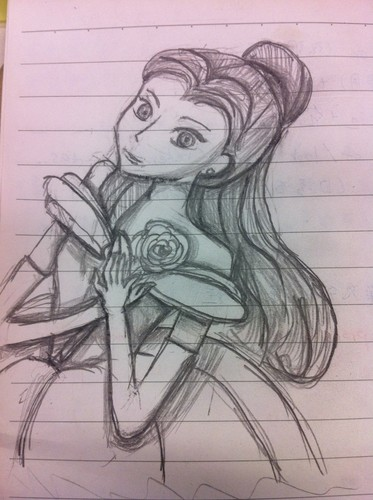 hand-drawing Belle