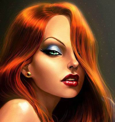 Jessica Rabbit kertas dinding with a portrait entitled jessica rabbit