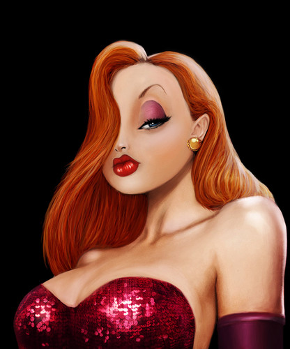 Jessica Rabbit wallpaper probably with a portrait called jessica rabbit