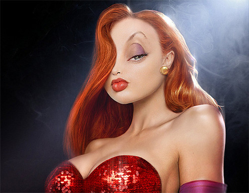 Jessica Rabbit kertas dinding possibly with a portrait titled jessica rabbit