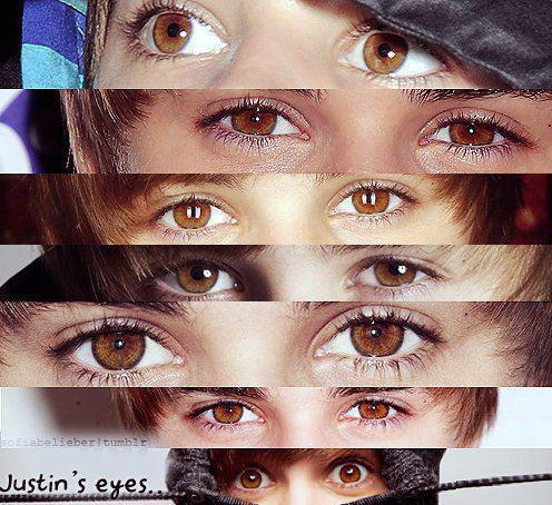 justin's beautiful eyes <3
