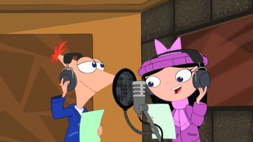 Phineas and Isabella wallpaper probably containing animê called phinbella