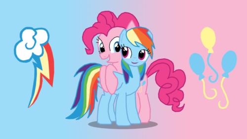 pinkie pie and इंद्रधनुष dash!