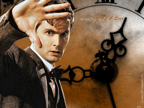 The Tenth Doctor wallpaper containing a street called running out of time