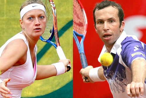 sexy Olympic couple Kvitova and Stepanek