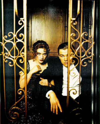 Titanic wallpaper probably with a sign, a revolving door, and a holding cell called ♥♥