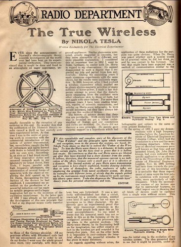 1919 News Article - The True Wirless