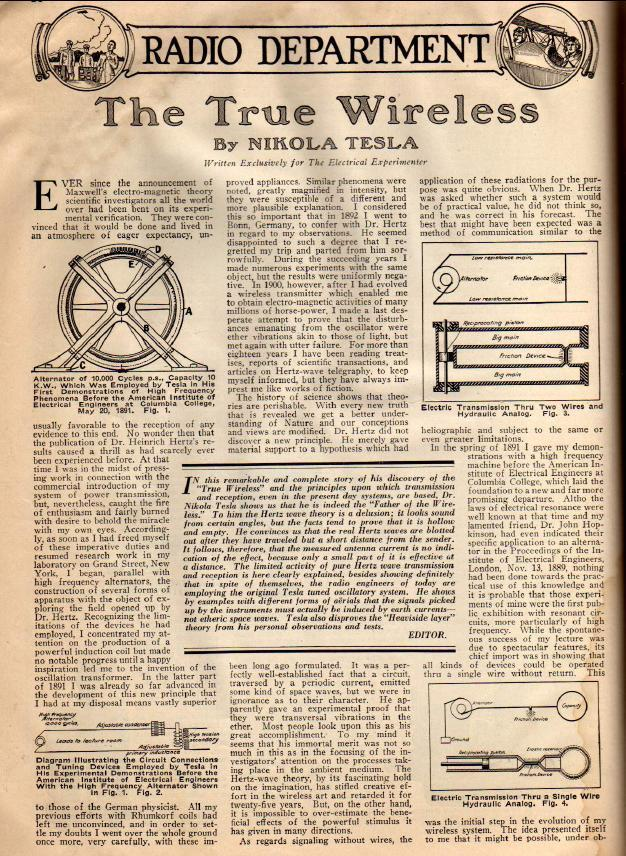 1919 News articulo - The True Wirless