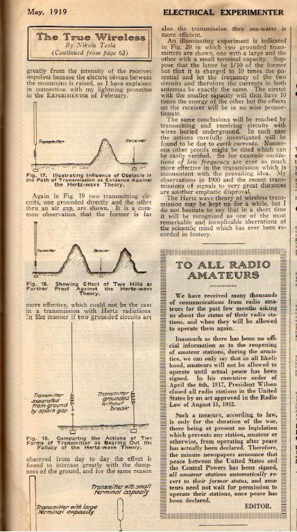1919 News Atricle - The True Wireless 7