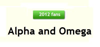 Alpha and Omega karatasi la kupamba ukuta titled 2012