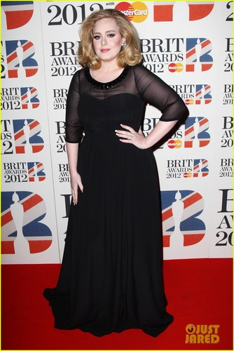 Adele - Brit Awards 2012 Red Carpet - adele Photo