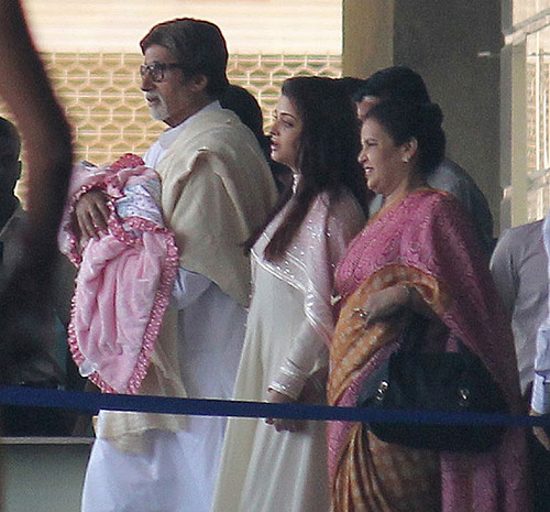 Aishwarya Rai with his baby